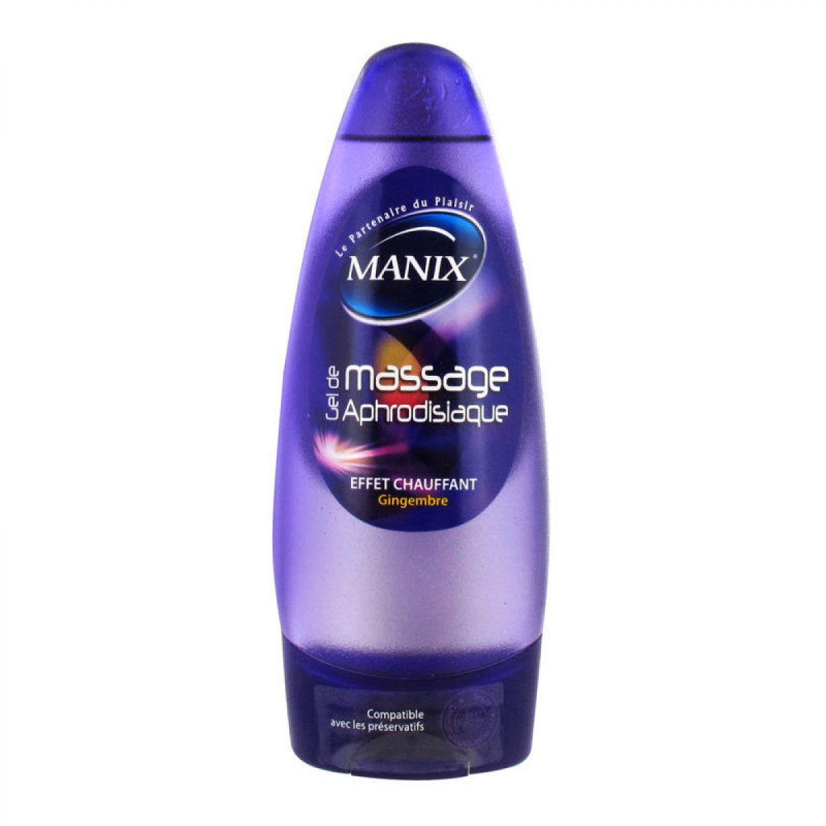 Manix - Gel de massage aphrodisiaque - Gingembre - 200ml